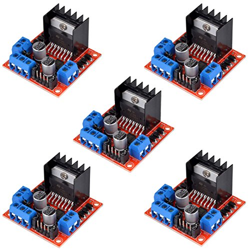 HiLetgo 5pcs L298N Motor Driver Controller Board Module Stepper Motor DC Dual H-Bridge for Arduino Smart Car Power UNO MEGA R3 Mega2560