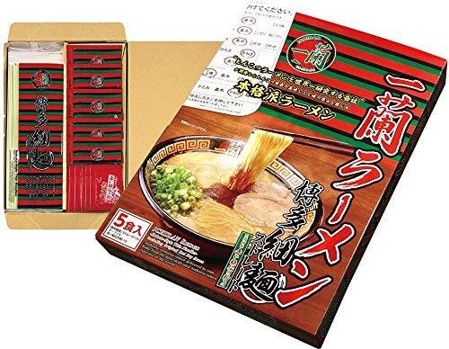 一蘭 ラーメン 博多細麺(ストレート) 秘伝の粉付 5食入