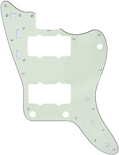 Musiclily Pro 13-Hole Guitar Pickguard for JPN Made Fender Japan Jazzmaster, 3Ply Mint Green