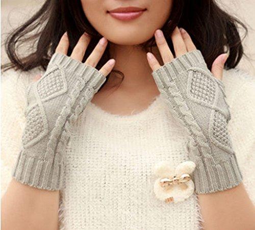Gloves-zx Guanti Ms Inverno Bella della barretta di Lavoro a Maglia Guanti Manica Autunno Inverno Tempo Libero Bracciale di Moda (Colore : 3#)