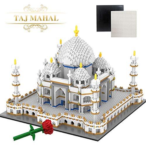 WYSWYG Taj Mahal Creator, 3D Puzzle, Bricks Bausteine, 4146pcs, Architecture Modell Set, DIY Spielzeug, Geschenk für Kinder und Erwachsene (Grundplatte und Rose Bricks Inbegriffen)
