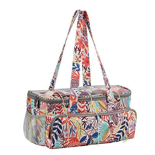 Coopay - Bolsa de punto para tejer y organizadores de punto, bolsa de ganchillo para viajes, bordado, almacenamiento de hilo de lana, diseño de bosque
