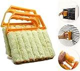 Cepillo de limpieza para estores venecianos, herramienta de eliminación de polvo con 7 dedos, mini limpiador de...
