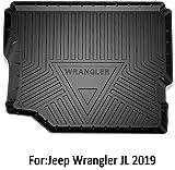 BTSDLXX Coche Alfombrillas para Maletero, para Jeep Wrangler JL 2019 Bandeja Forro Cargo Boot Mats Protection Kick Storage Pad, Impermeable, Lavable, Antideslizante