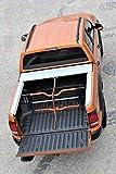 Cubreespacio de Carga con Rejilla de separación y Cierre centralizado Set para VW Amarok Double Cab en Plata a Partir de año de construcción 2010