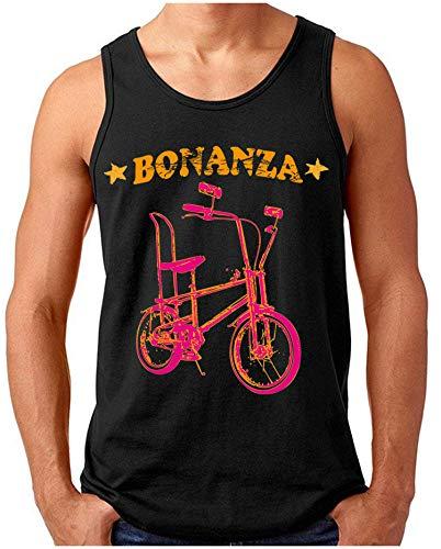 OM3® - Bonanza-I - Tank Top | Herren | Vintage Kult Fahrrad 50 Jahre Jubiläum Bicycle | Schwarz, L