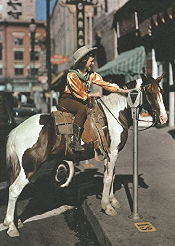 Avanti Horse Parking At Meter America Collection Funny Get Well Card