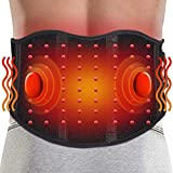 ARRIS Heating Massage Back Wrap - Portable Heated Waist Belt with Vibration Massager -Pain Relief for Lower Back Lumbar Waist Abdominal Stomach Spine - 7.4V Battery Powered Heat Therapy