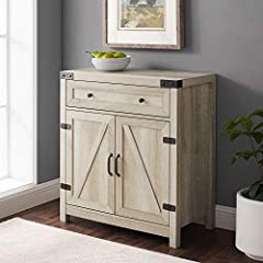 """Dimensions small: 12"""" H x 18"""" L x 18"""" W 2 doors with an adjustable shelf inside 1 drawer with metal telescoping metal drawer glides Supports up to 250 lbs. Dimensions: 33"""" H x 30"""" L x 15.5"""" W Inner Drawer Dimensionss: 24.5"""" x 12.5"""" x 4"""" Included comp..."""