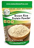 Judee's Brown Rice Protein Powder (80% Protein) 1.5 lb (3 lb Also), Keto, Non GMO, Vegan, Sprouted, Dairy Free, Soy Free, Dedicated Gluten & Nut Free Facility, 21 Grams Protein/Serving