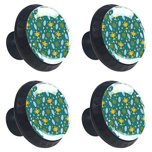Tiradores redondos para cajones de bolos, de cristal verde, con tornillos, para el hogar, cocina, armario, armario, armario, 4 unidades