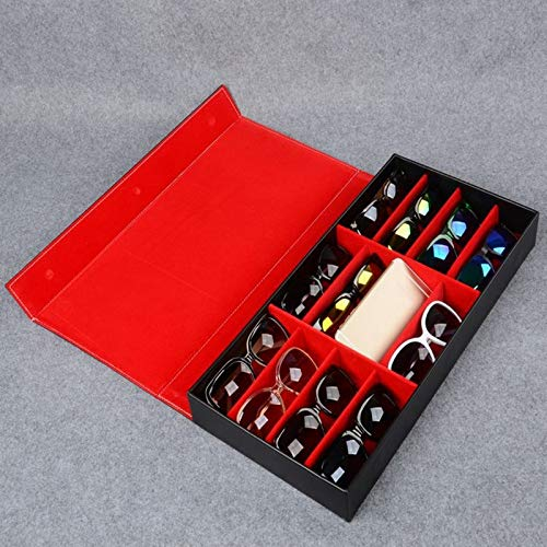 Plaid Jewelry Gafas de Sol Gafas Caja de Almacenamiento Ojos Desgaste Bandeja de exhibición Reloj Bolsa de Almacenamiento Cuero de PU