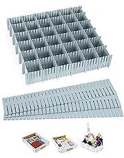 Roosterladeverdelers, 20 stuks ladeverdeler, kunststof ladeverdeler, verstelbare ladeorganisator, flexibele huishoudelijke separators voor kantoorbenodigdheden, slaapkamer, keuken, kleding, ondergoed, sokken