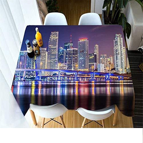 WSJIABIN Mantel Tela Poliéster Impresión Digital D Pequeño y Fresco Mantel Decorativo Reutilizable Mantel Rectangular Adecuado para Interiores y Exteriores Mantel de Picnic 90x180cm