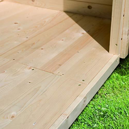 HORI® Gartenhaus Fußboden I nordische Fichte Natur I Verschiedene Modelle I Passend für: HORI Blavand 4