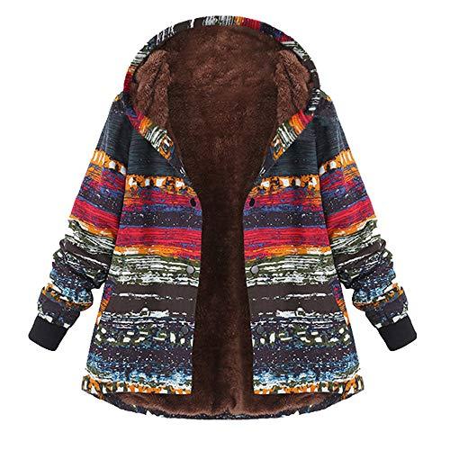U/A Invierno Mujeres Algodón Acolchado Ropa Algodón Lino Impreso Suéter Con Capucha Abrigo Caliente