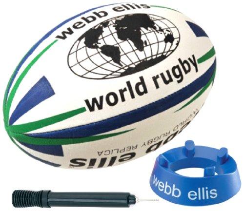 Webb Ellis Kids World Rugby Starter Pack–Weiß, Größe 4