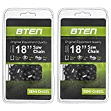 8TEN Chainsaw Chain for Stihl MS210 MS230 MS250 26RS 68 Husqvarna 18 inch .063 .325 68DL 2 Pack