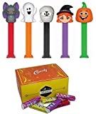 PEZ Halloween Candy Dispensers, Candy Refill, and Gift Box Set: Ghost, Mummy, Witch, Pumpkin, and Vampire Bat 5 Dispensers and 10 PEZ Candy Refills in a Candy Gift Box