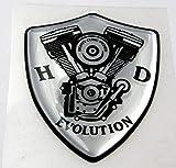 3D Doming Aufkleber Wappen Evolution (Chrom)