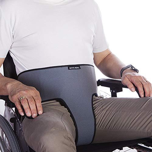 Cinturón Abdominal perineal | para Silla de Ruedas, sillas o sillones | para Personas con Tendencia a deslizarse del Asiento | Talla 2 (104-192 cm) 🔥