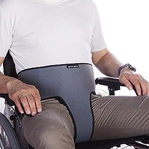 Cinturón Abdominal perineal   para Silla de Ruedas, sillas o sillones   para Personas con Tendencia a deslizarse del Asiento   Talla 2 (104-192 cm)