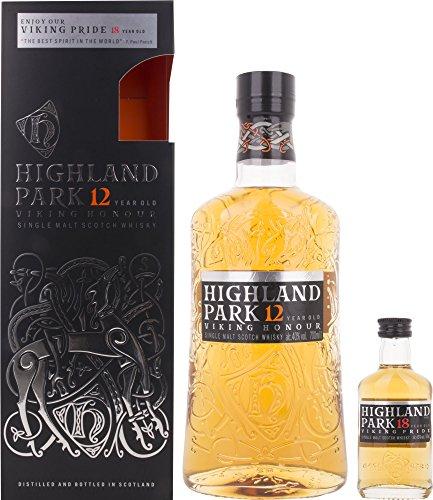 Highland Park 12 Jahre VIKING HONOUR mit Geschenkverpackung und 18 Years Old Whisky (1 x 0.7 l)
