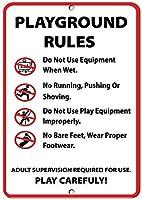 遊び場ルールアクティビティサインパークサインパークルールサインアルミニウム金属サイン
