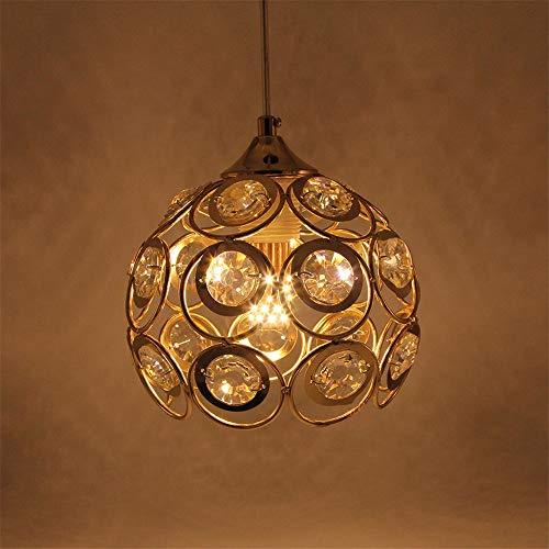 Kristallen Hanglampen Eetkamer Lamp Goud Hanglamp Armatuur Bar Dineren Kamer Lamp Ophangen Plafond Keuken Lamp Enkele Hoofd Led15Cm*20Cm