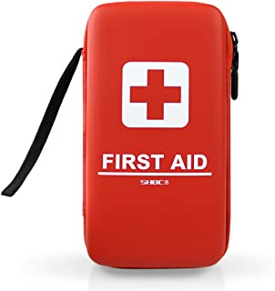 SHBC Compact First Aid Kit (139 Piece) Adventure Medical Kits Waterproof- Includes Emergency Blanket, Fire Starter, Compass, Wire Saw for Survival, Home, Car, Camping, Hiking, Hunting, Sport