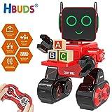 TROIS MODES DE COMMANDE - Le robot éducatif Hbuds pour enfants dispose de trois modes de commande: mode de commande à distance, mode son interactif et modes tactiles. Vous pouvez non seulement contrôler le robot via une télécommande, mais également des commandes vocales et tactiles.