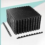 ZERRO CCLIFE Esterilla Puzzle para Suelos de Gimnasio y Fitness 60x60x1cm Suelo de Gimnasio de Goma Espuma EVA, Color:Negro 32pcs
