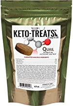 Ketogenic Pet Foods - Keto-Treats (Quail) - High Protein, High Fat, Low Carb, Starch-Free Dog and Cat Treats - Two Pack - 4.9 Ounce Bag