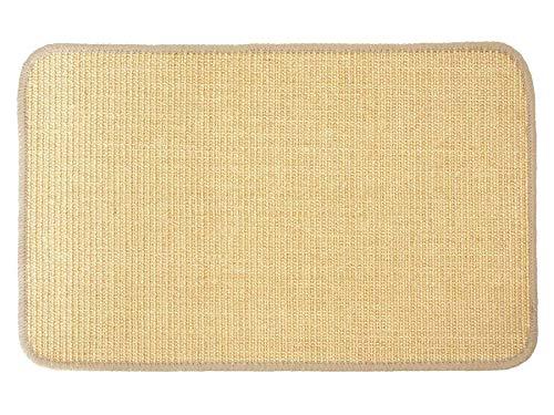 Primaflor - Ideen in Textil Katzen-Kratzmatte Katzenteppich - Natur 40 x 60 cm, Sisal, Langlebige Rutschhemmende Sisal-Matte, Geeignet für Fußbodenheizung, Krallenpflege Sisalteppich für Wand & Boden