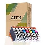 AITX CLI42 CLI-42 Cartucce d'inchiostro, Compatibile con Canon PIXMA Pro-100 PIXMA Pro-100S 6402B009 Sostituzione per Canon CLI42 CLI-42 CLI 42 BK/GY/LGY/C/M/Y/PC/PM Cartucce (confezione da 8 pezzi)