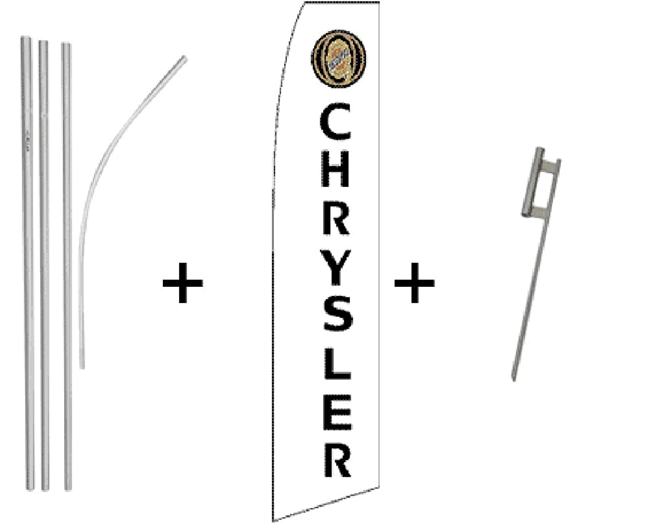 Chrysler Quantity 5 Super Flag & Pole Kits