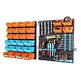 life_mart 部品収納ケース 43P ツールボックス パーツボックス 工具収納セット キャビネット 壁掛け ネジ ナット ワッシャー ボルト