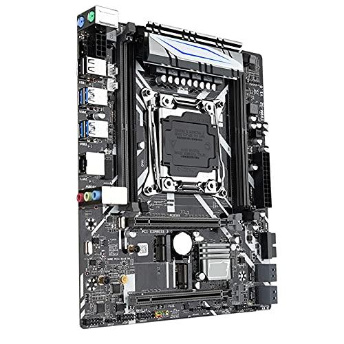 Blesiya Placa Base de Escritorio X99M-G2 LGA 2011-V3 4 DDR4 Placa Base de Ordenador de Escritorio SSD m2 E5 2680/2678 V3 CPU, bajo Consumo de energía, Alto