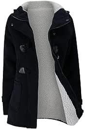 HTOOHTOOH Womens Solid Front Zipper Fleece Tunic Sweatshirt Hoodie Outwear