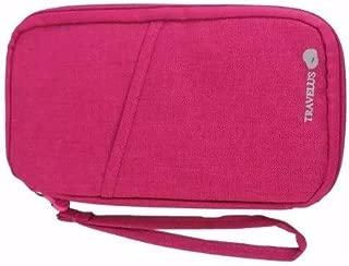 Carteira Porta Passaporte Organizador Documento Cartão Bolsa Rosa