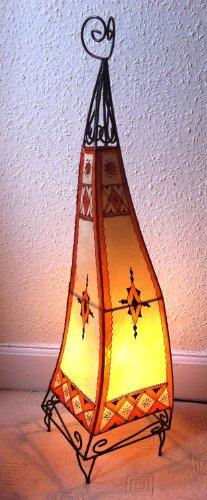Lampara de suelo de Henna marroquí color - naranja y crema 100 cm