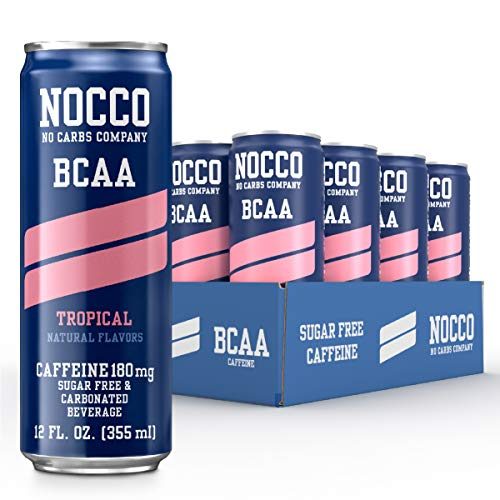 NOCCO - BCAA Pre & Post Workout Recovery Drink - Sugar Free with BCAAs...