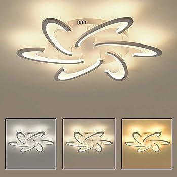 Design Deckenleuchte Deckenlampe Flurlampe Lampe Leuchte Glas mit floralem Dekor