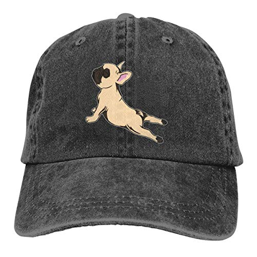NVJUI JUFOPL Men's & Women's Cute French Bulldog Yoga Baseball Cap Vintage Funny Trucker Dad Hat