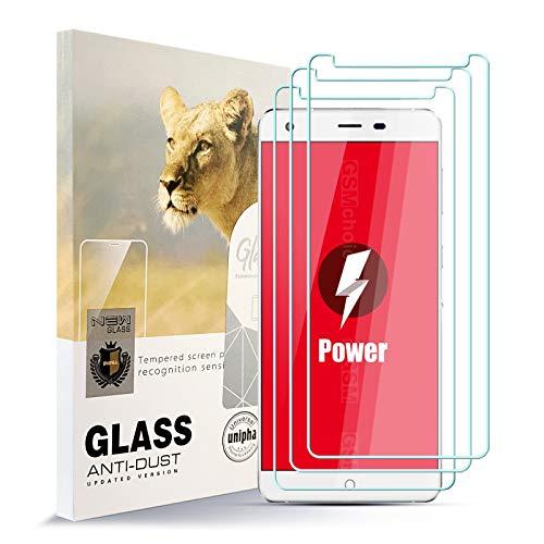 AYSOW Protector de Pantalla para Ulefone Power [3 Pcs], 9H Dureza Película de Vidrio Templado HD Antihuellas sin Burbujas Fácil de Instalar, Protector de Vidrio para Ulefone Power