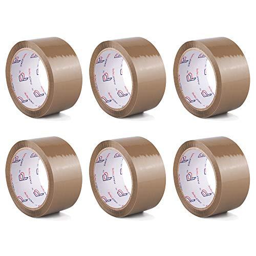 PACKTAPE® Klebeband Packband Paketband Paketklebeband Klebebänder Verpackungsband 6 Rolle 48mm x 66m Langlebig und Klebrig, Kein Schlechter Geruch