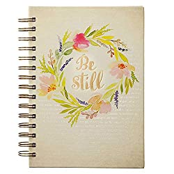 journal with Be Still on cover