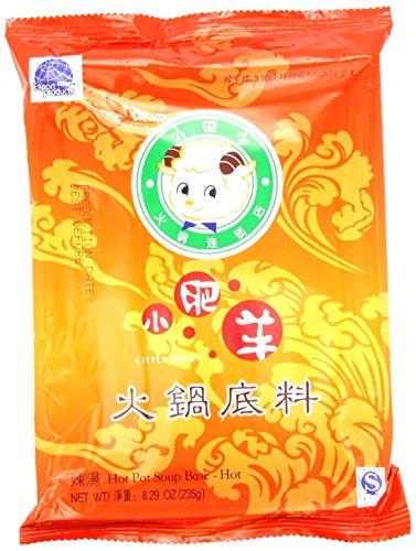 Little Sheep Mongolian Hot Pot Soup Base Hot Flavor 8.29 Oz (Pack of 2)