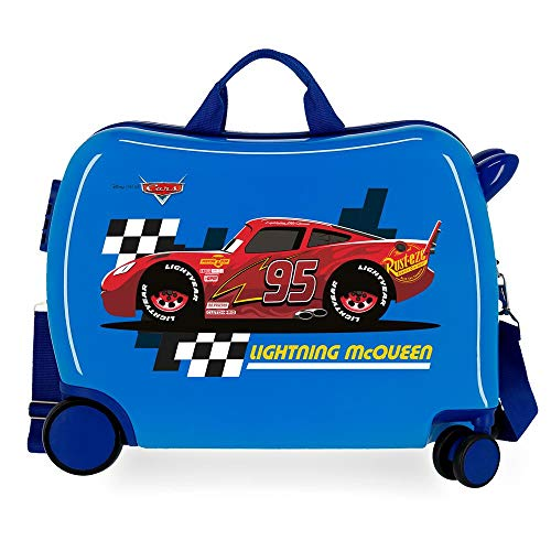 Disney Cars Lightning Mcqueen Maleta Infantil Azul 50x38x20 cms Rígida ABS Cierre combinación 34L 2,1Kgs 4 Ruedas Equipaje de Mano