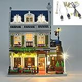 YLJJ Juego de Luces LED USB DIY para el Modelo de Bloques de construcción (Restaurante Parisino), Kit de luz LED Compatible con el Restaurante Parisino Lego 10243 niños (no Incluido